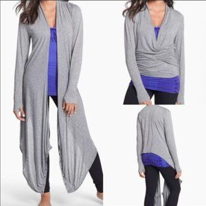 Zella convertable Wrap sweater with thumbholes